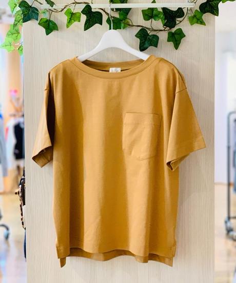 スムースコットン胸ポケTシャツ