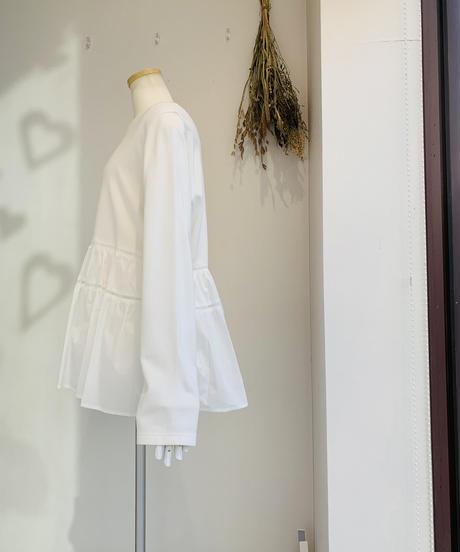 【2021春ご予約】梯子レースシャツペプラムドッキングカットソー