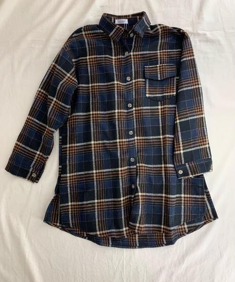 ロングめチェックネルシャツ