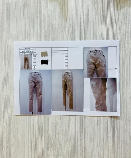 サイドリブ立体パンツ
