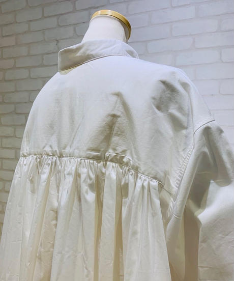 ●インスタLive● 後タックプリーツ・テントラインシャツブラウス