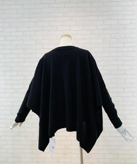袖付きポンチョ2wayプルオーバー