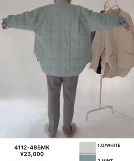 【CHIGNON ご予約】合皮キルティングシャツジャケット