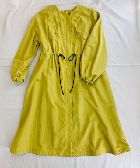 ノーカラー・スプリングコートドレス