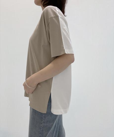 前後バイカラーラバーLOGOTシャツ