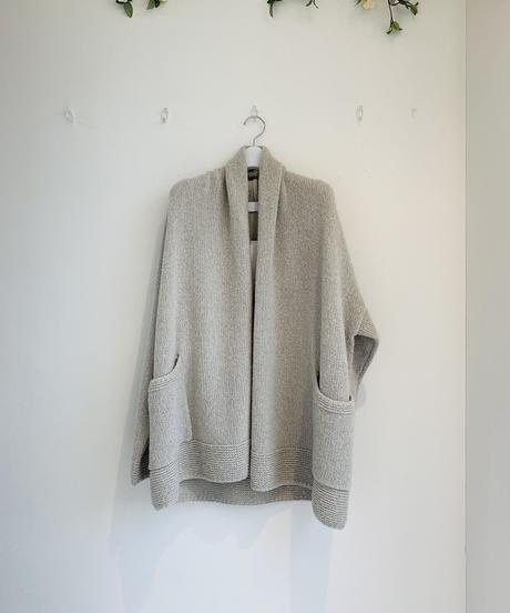 【Punt D'oro'21秋冬ご予約】 Bouclé Knit. ラップカーディガン
