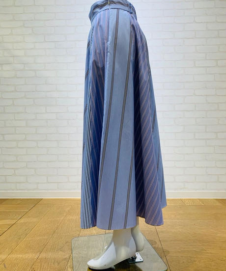 【ご予約】ストライプ切り替えスカート