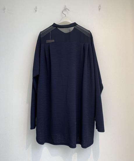 バックシフォン・サイド釦シャツ