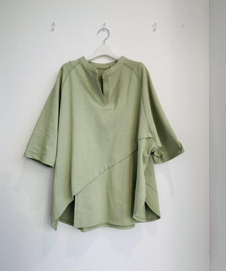 アシメ裾カット&スリットパンツsetup