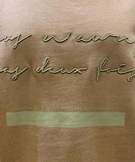 ロゴ刺繍裏毛プルオーバー