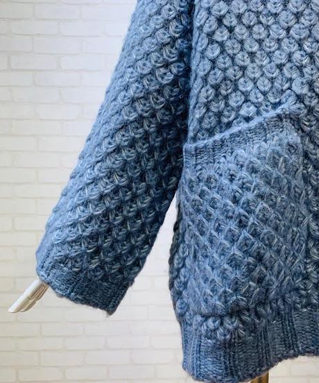 ざっくり編み ポンチョカーディガン