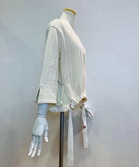 綿ジャガード・ドロスト裾プルオーバー(セットアップ)