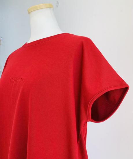 刺繍裾ラウンドTee