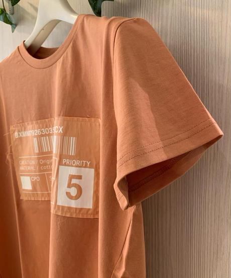 LOGOパッチワークTシャツ