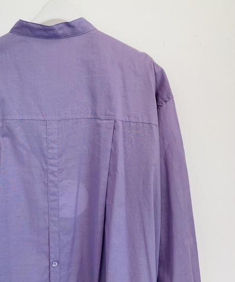 【大人気追加生産ご予約】綿ローン肩ギャザーlongシャツワンピース