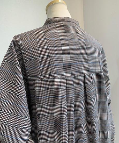 グレンチェックシャツワンピース