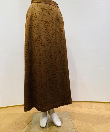 【秋ご予約】ランダムドット・Aラインlongスカート