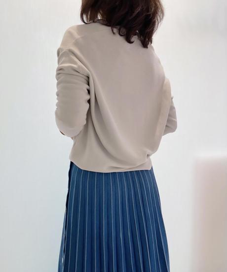 【21SSご予約】レーザー加工デニムプリーツスカート