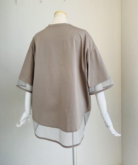 【Praia'21 初夏ご予約】 メッシュ切り替えTシャツ