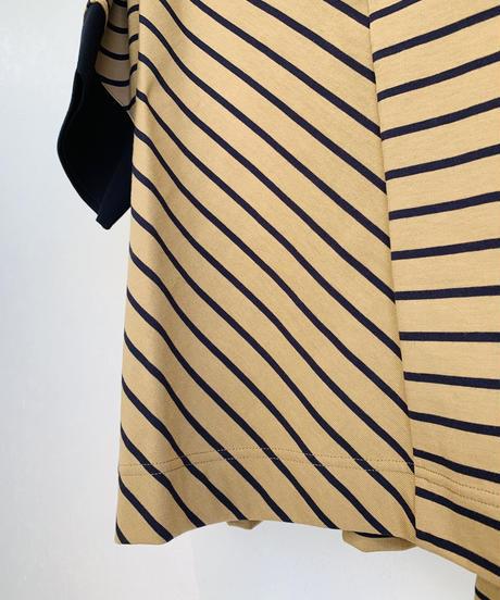 アシメボーダーポロシャツ