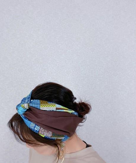 ブルーオニオン originalヘアターバン 北欧風