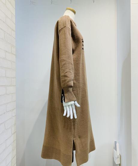 【HemLine 秋・新作ご予約】インターシャLOGOニットワンピース
