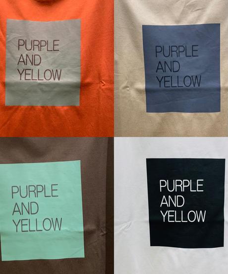 purple &yellowパネルロゴTee