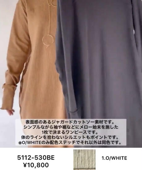 【CHIGNON ご予約】メロー切り替えカットワンピース