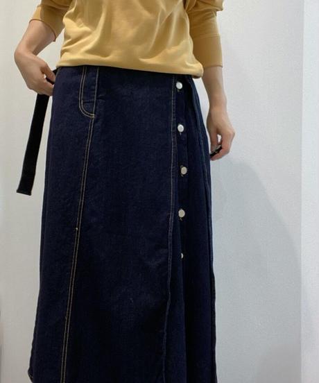 アシメ釦denimスカート