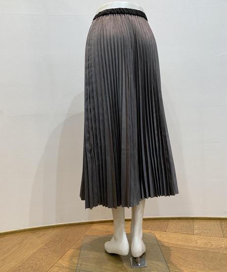 エコスウェードプリーツスカート