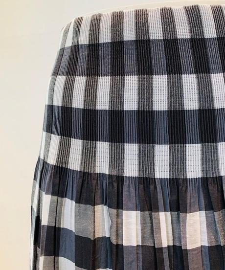 シャドーストライプ/ギンガムチェック・リバーシブル・シャーリングスカート