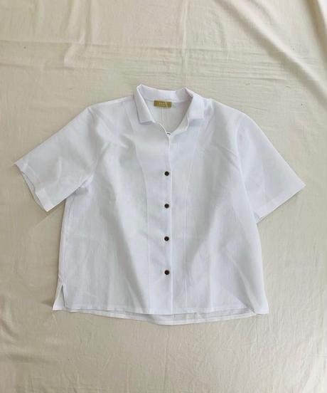 linen開襟シャツ