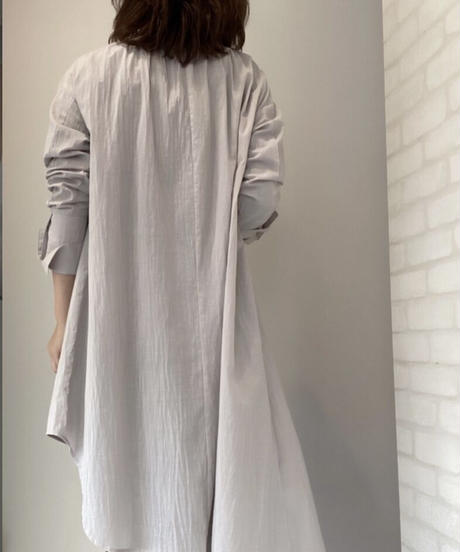 アシメ綿ローンlongブラウス