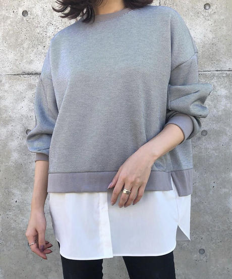 レイヤード裾デザインカットソー