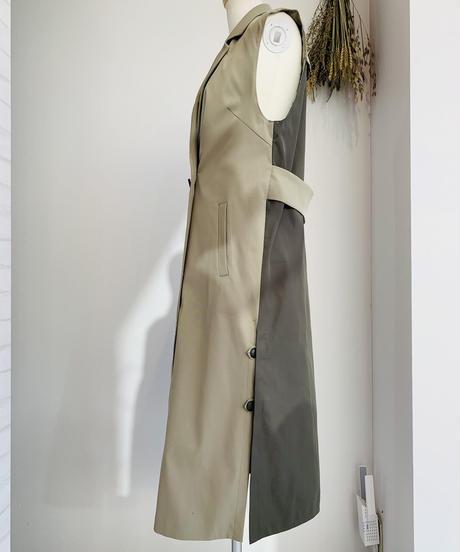 スリーブレスlongジャケット