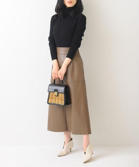 エコレザーロングスカート