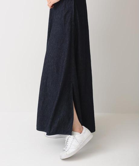 デニムマキシフレアスカート