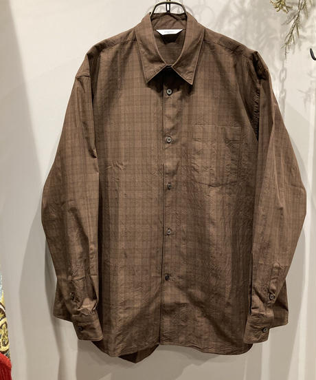 FUJITO (フジト)  Brown Check B/S SHIRT manufactured in karatsu