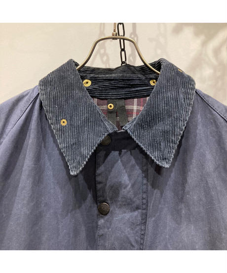 """Vintage Over Size Barbour """"BEAUFORT"""" Reproof Navy"""