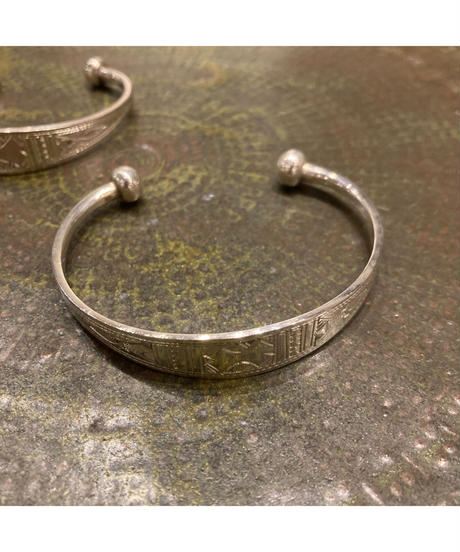 Touareg Silver(トゥアレグ シルバー) bangle A14 (flat bangle)