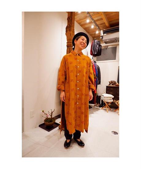 SOWBOW (ソウボウ)CHIKUGO-ORI E/BAL collar shirt (Ex.long)