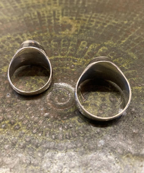 Touareg Silver(トゥアレグ シルバー) ring 14 (Three stripe Ebony wood )
