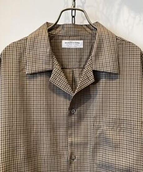 MAATEE&SONS (マーティーアンドサンズ)  Gun Club Check Open  Collar Shirt(ガンクラブチェックオープンカラーシャツ )