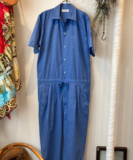 MAATEE&SONS (マーティーアンドサンズ)  VINTAGE SHAMBRAY ALL IN ONE SS(ヴィンテージ シャンブレー オールインワン半袖)