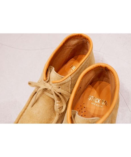 STOCK:NO(ストックナンバー)MB1801 / BEIGE 3HOLE MOCCASIN SHOES