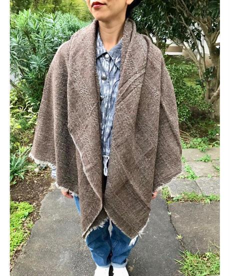 Wool Herringbone Big Stool 〈made in India〉
