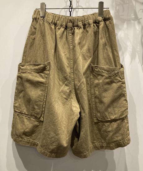 HARVESTY (ハーベスティ) COTTON/LINEN HERRINGBONE GARDEN SHORT PANTS(綿麻ヘリンボン ガーデンショーツ)