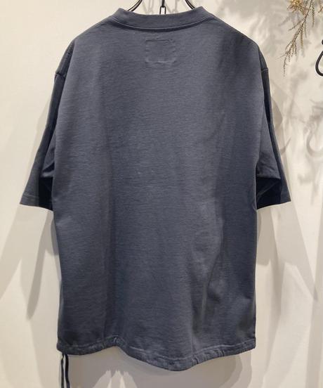 DELICIOUS(デリシャス)NORA Drawstring T-Shirts Over-dye / Unisex (ノラ ドローストリング Tシャツ製品染)