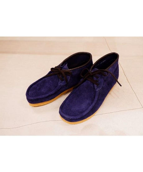 STOCK:NO(ストックナンバー)MB18_E11/NAVY 3HOLE MOCCASIN SHOES