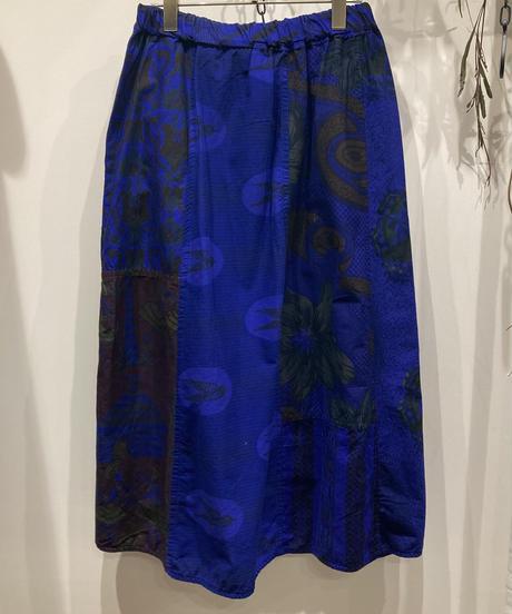 TIGRE BROCANTE (ティグルブロカンテ) African Batik  Wrap Up Skirt(アフリカンバティックラップアップスカート)